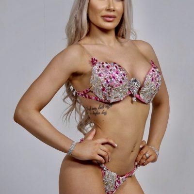 pink and silver bikini