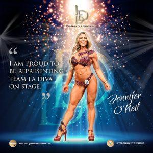 Brand Ambassador Jennifer O'Neil representing La Diva Design