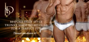 La Diva Design Mens Brief Style Bespoke Competition Trunks