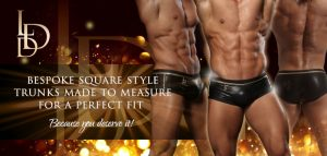 La Diva Design Mens Square Style Bespoke Competition Trunks