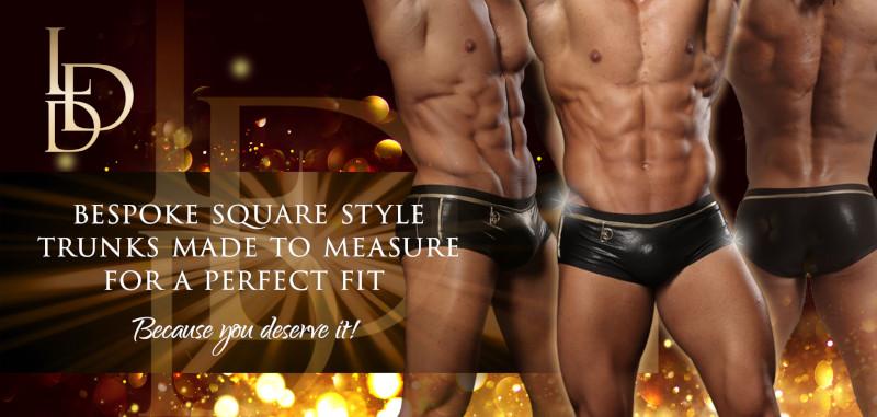 La Diva Design Mens Square Style Bespoke Competition Trunks