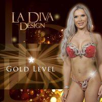 La Diva Design Gold bespoke bikini