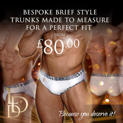 Competition brief style trunks for men from £80