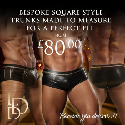Competition square trunks for men from £80