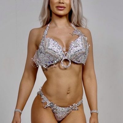 white and silver bikini