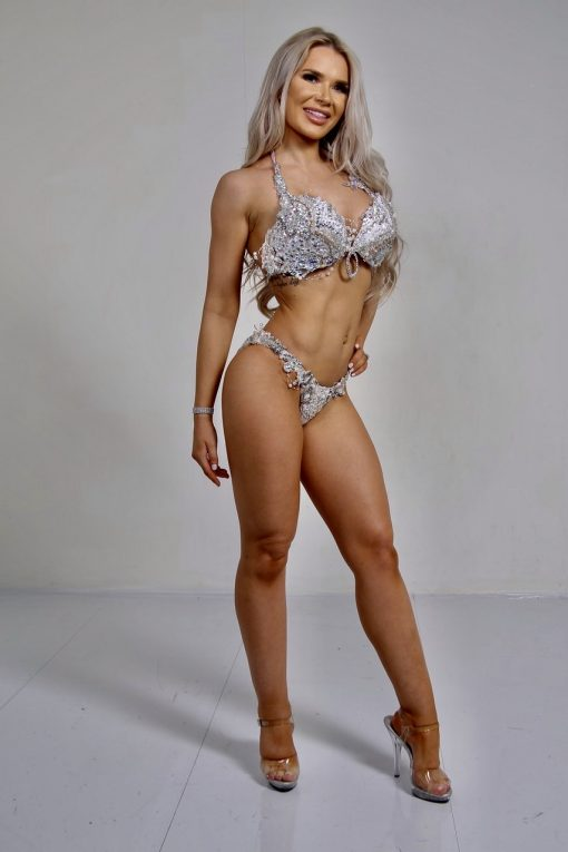 white silver bikini